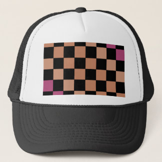 Hipster Modern Checkerboard Trucker Hat
