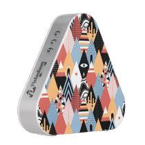 Hipster modern mystic triangle geometric pattern speaker