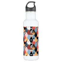 Hipster modern mystic triangle geometric pattern water bottle