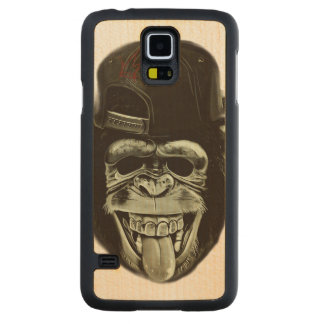 Hipster Monkey Carved Maple Galaxy S5 Case