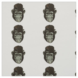 Hipster Monkey Fabric