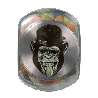 Hipster Monkey Glass Candy Jars