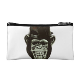 Hipster Monkey Makeup Bag