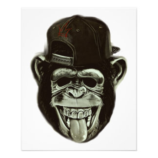 Hipster Monkey Style Flyer