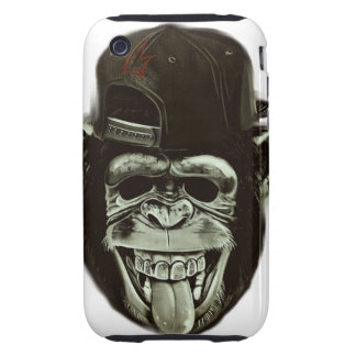Hipster Monkey Style Tough iPhone 3 Cover