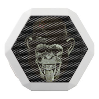 Hipster Monkey White Bluetooth Speaker