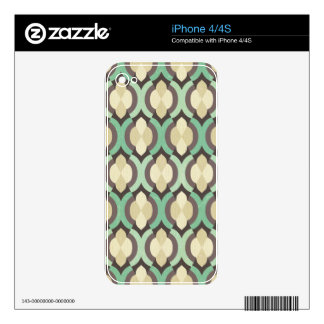 Hipster,moroccan,quatrefoil,vintage,pattern,teal, Skin For The iPhone 4S