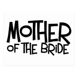 Hipster Mother of the Bride Postcard