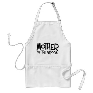 Hipster Mother of the Groom Adult Apron