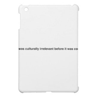 Hipster Motto iPad Mini Cover