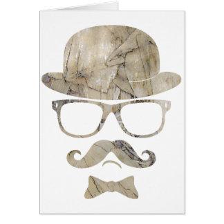 hipster moustache derby glasses 3 card