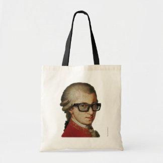 Hipster Mozart Tote Bag