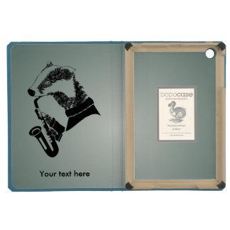 Hipster Musician Badger Saxophone Customizable iPad Mini Retina Case