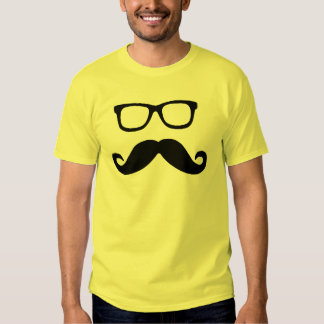 Hipster Mustache and Glasses Shirt