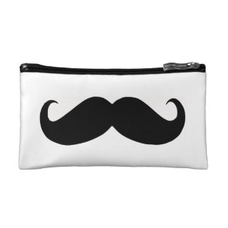 Hipster Mustache Cosmetic Bag