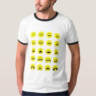Hipster Mustache T Shirt / Smiley Face Moustache