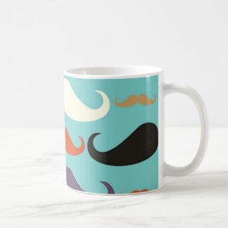 Hipster  mustache vintage mug
