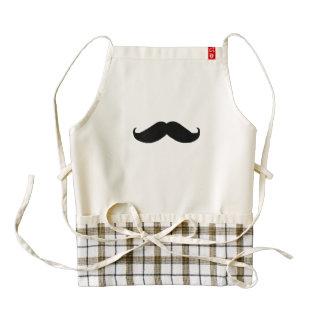 Hipster Mustache Zazzle HEART Apron