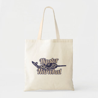 Hipster Narwhal Tote Bag