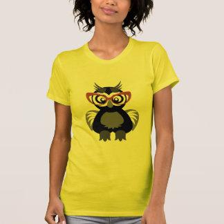 Hipster Nerd Owl T-Shirt