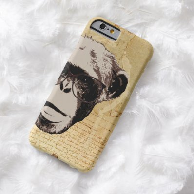 Hipster Nerdy Chimp in Glasses iPhone 6 Cases Barely There iPhone 6 Case