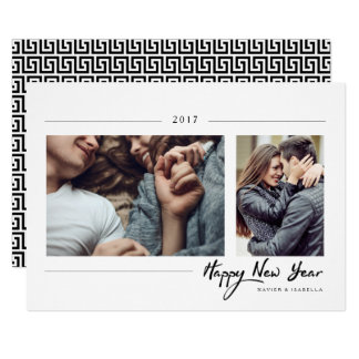 Hipster New Year Photo Card