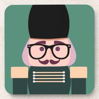 Hipster Nutcracker Holiday Coaster
