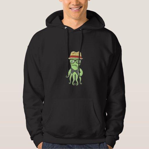 Hipster Octopus Sweatshirt