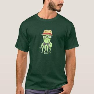 Hipster Octopus T-Shirt