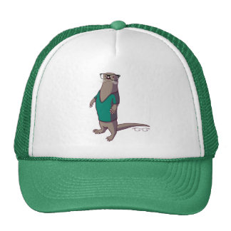 Hipster Otter Hat (without text)