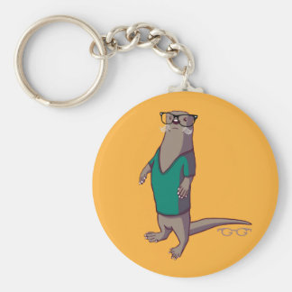 Hipster Otter Keychain (without text)