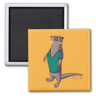 Hipster Otter Magnet (without text)