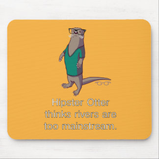 Hipster Otter Mousepad