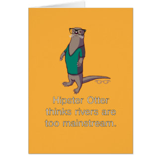Hipster Otter Note Card