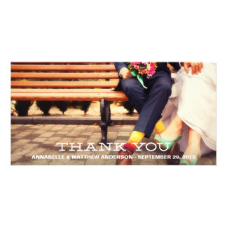 HIPSTER OVERLAY | WEDDING THANK YOU PHOTO CARD