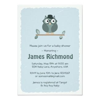 Hipster Owl Baby Shower Invitation