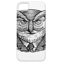 Hipster Owl Suit Woodcut iPhone SE/5/5s Case