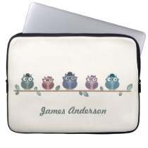 Hipster Owls Laptop Sleeves