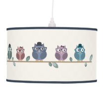 Hipster Owls Pendant Lamp