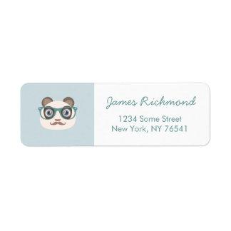 Hipster Panda Address Labels