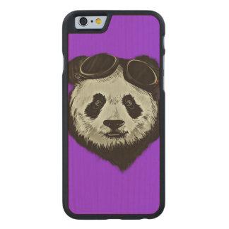 Hipster Panda Bear Carved Maple iPhone 6 Slim Case