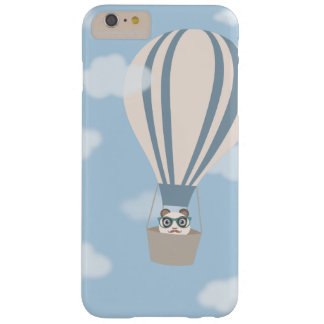 Hipster Panda on Hot Air Balloon Barely There iPhone 6 Plus Case