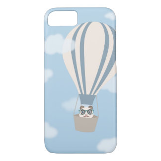 Hipster Panda on Hot Air Balloon iPhone 7 Case