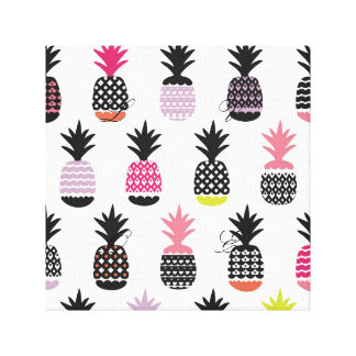 Hipster,pattern,multi,color,pinapple,trendy,girly, Canvas Print