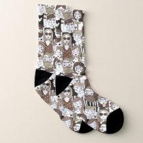 Hipster Pattern socks