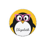 Hipster Penguin - Cute Cartoon Yellow Pink Jelly Belly Tins