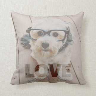 Hipster Photo Art - Love Color Overlay Throw Pillow