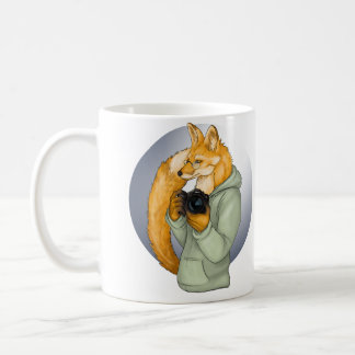 HIpster Photographer Fox Coffee Mug