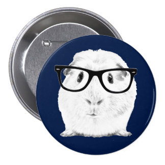 Hipster Pigster Button
