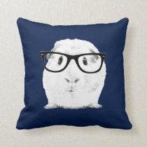 Hipster Pigster Throw Pillow